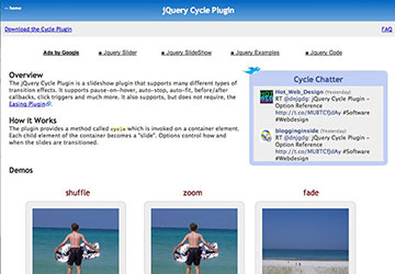 Cycle jQuery Plugin